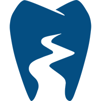 A blue variant of the River District Dental logo